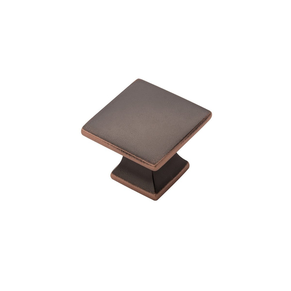 Hickory Hardware H-P3028-OBH Contemporary/Studio Oil-Rubbed Bronze Highlighted Square Knob - KnobDepot.com