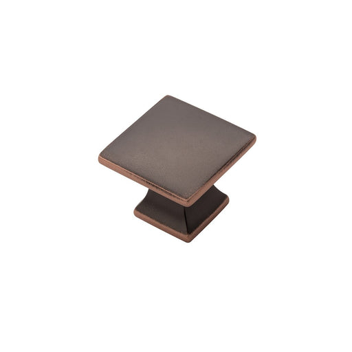 Hickory Hardware H-P3028-OBH Contemporary/Studio Oil-Rubbed Bronze Highlighted Square Knob - Knob Depot
