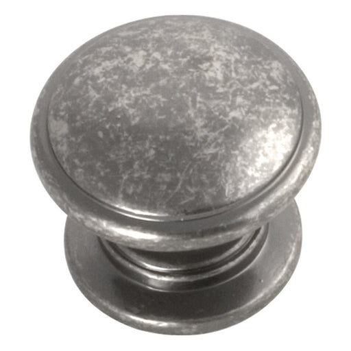 Hickory Hardware H-P3053-BNV Traditional/Williamsburg Black Nickel Vibed Round Knob - KnobDepot.com