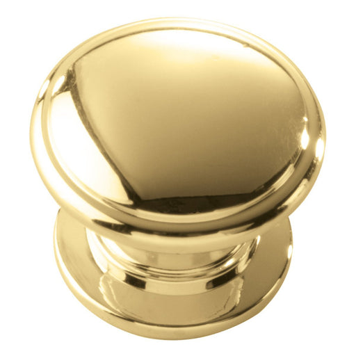 Hickory Hardware H-P3053-PB Traditional/Williamsburg Polished Brass Round Knob - Knob Depot