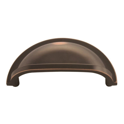 Hickory Hardware H-P3055-OBH Traditional/Williamsburg Oil Rubbed Bronze Highlighted Cup Pull - KnobDepot.com