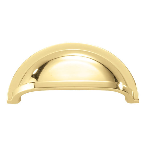 Hickory Hardware H-P3055-PB Traditional/Williamsburg Polished Brass Cup Pull - KnobDepot.com