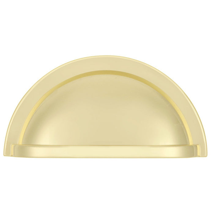 Hickory Hardware H-P3055-PB Traditional/Williamsburg Polished Brass Cup Pull - Knob Depot