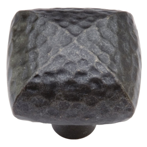 Hickory Hardware H-P3062-BI Casual/Mountain Lodge Black Iron Pyramid Square Knob - Knob Depot