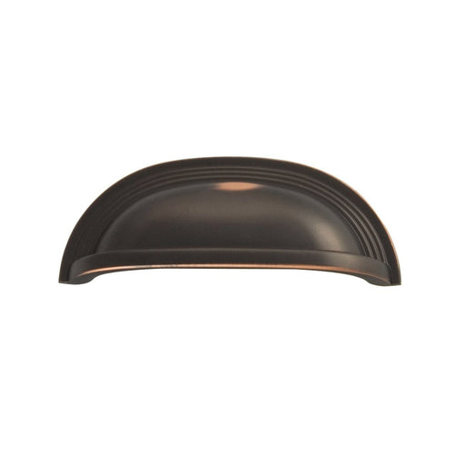 Hickory Hardware H-P3104-OBH Contemporary/Deco Oil Rubbed Bronze Highlighted Cup Pull - KnobDepot.com