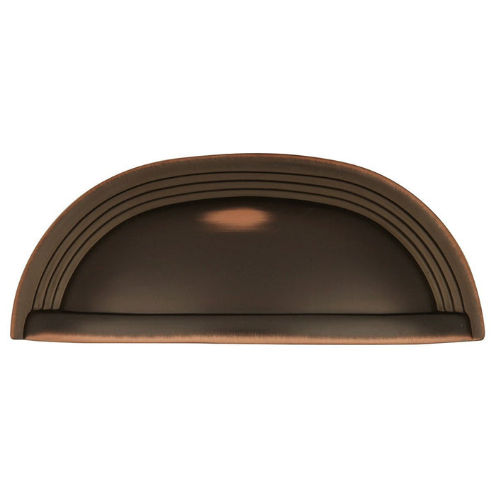Hickory Hardware H-P3104-OBH Contemporary/Deco Oil Rubbed Bronze Highlighted Cup Pull - Knob Depot