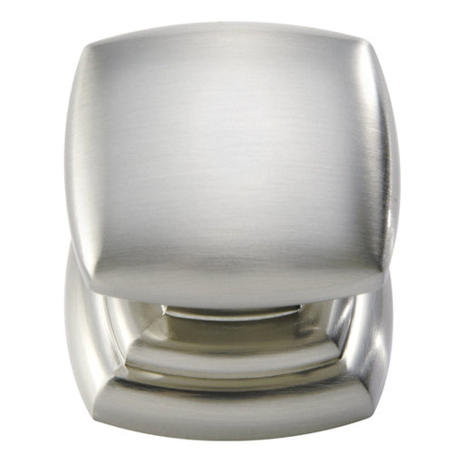 Hickory Hardware H-P3181-SN Contemporary/Euro-Contemporary Satin Nickel Square Knob - KnobDepot.com