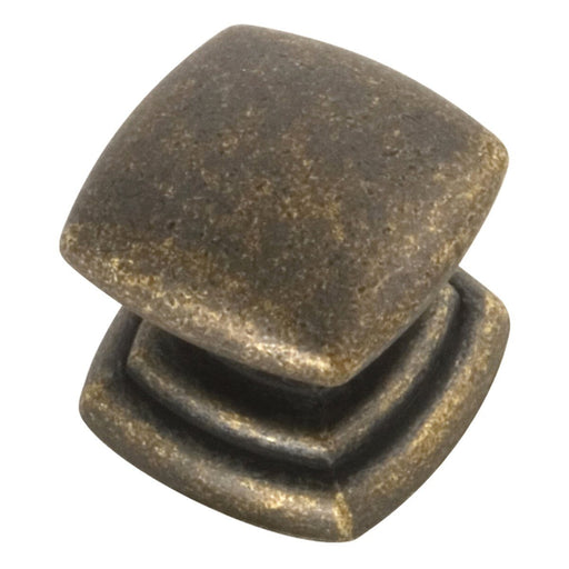 Hickory Hardware H-P3181-WOA Contemporary/Knob Windover Antique Square Knob - KnobDepot.com