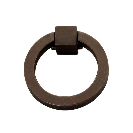 Hickory Hardware H-P3190-DAC Traditional/Camarilla Dark Antique Copper Ring Pull - Knob Depot