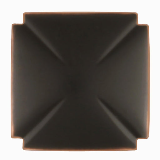 Hickory Hardware H-P3230-OBH Traditional/Bridges Oil Rubbed Bronze Highlighted Square Knob - KnobDepot.com