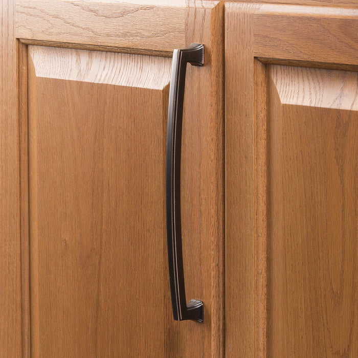 Hickory Hardware H-P3237-OBH Traditional/Bridges Oil-Rubbed Bronze Highlighted Standard Pull - KnobDepot.com