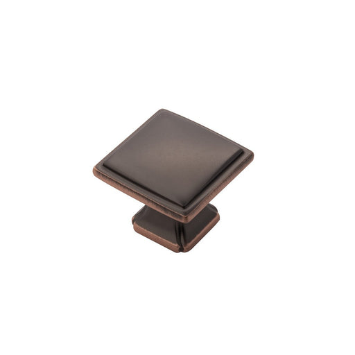 Hickory Hardware H-P3240-OBH Traditional/Bridges Oil-Rubbed Bronze Highlighted Square Knob - Knob Depot