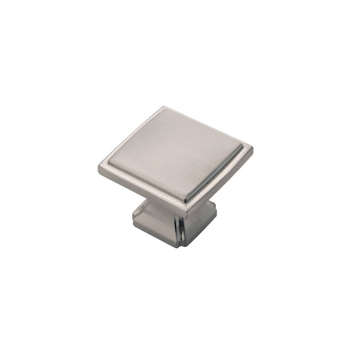 Hickory Hardware H-P3240-SN Traditional/Bridges Satin Nickel Square Knob - KnobDepot.com
