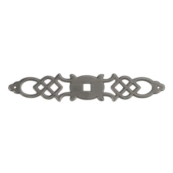 Hickory Hardware H-P326-ST Traditional/Manor House Silver Stone BackPlate - KnobDepot.com