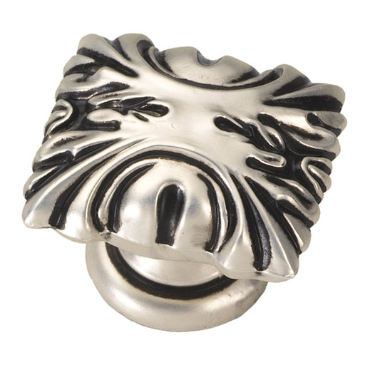 Hickory Hardware H-P3430-SAS Traditional/Ithica Satin Antique Silver Rectangular Knob - Knob Depot