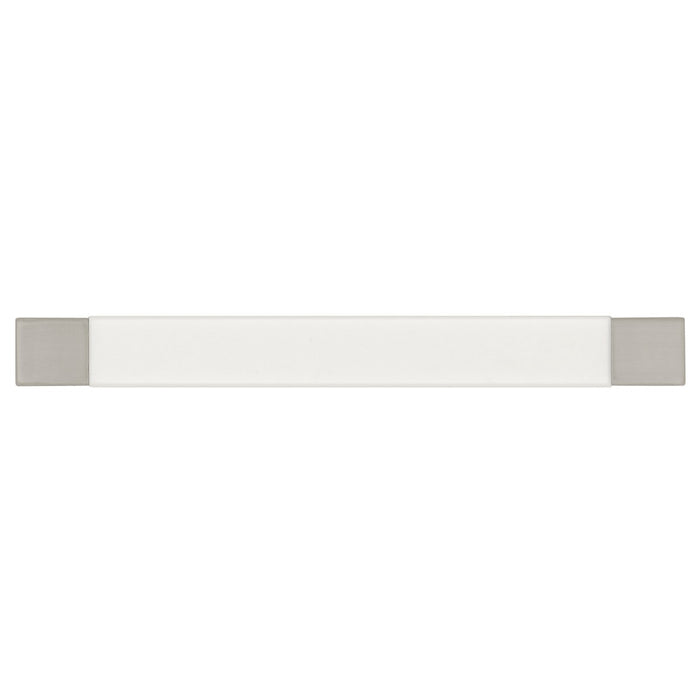 Hickory Hardware H-P3441-SNWM Designed for Value/Loft Satin Nickel & White Matte Standard Pull - Knob Depot