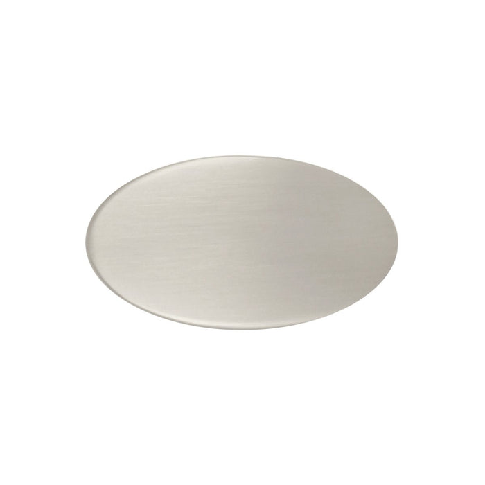 Hickory Hardware H-P3445-SN Designed for Value/Luna Satin Nickel Oval Knob - KnobDepot.com