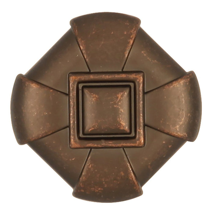 Hickory Hardware H-P3455-DAC Designed for Value/Chelsea Dark Antique Copper Square Knob - Knob Depot