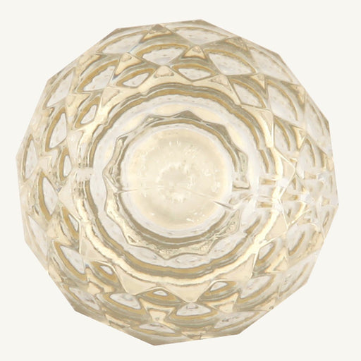 Hickory Hardware H-P35-CA3 Traditional/Crystal Palace Crysacrylic & Polished Brass Round Knob - Knob Depot