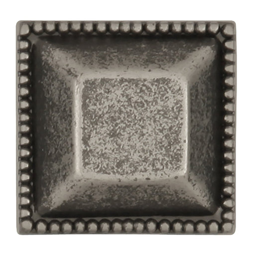 Hickory Hardware H-P3503-BNV Traditional/Altair Black Nickel Vibed Square Knob - KnobDepot.com