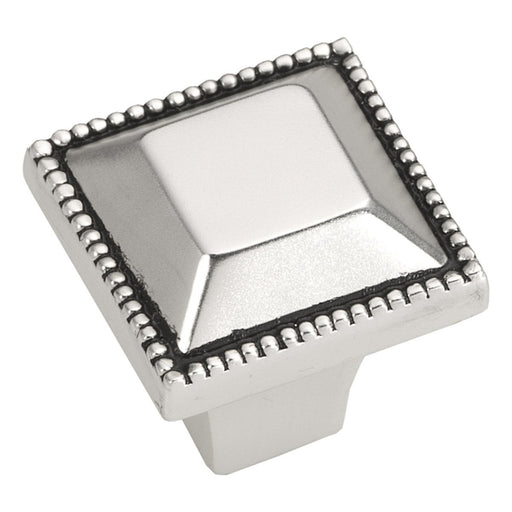 Hickory Hardware H-P3503-SAS Traditional/Altair Satin Antique Silver Square Knob - KnobDepot.com