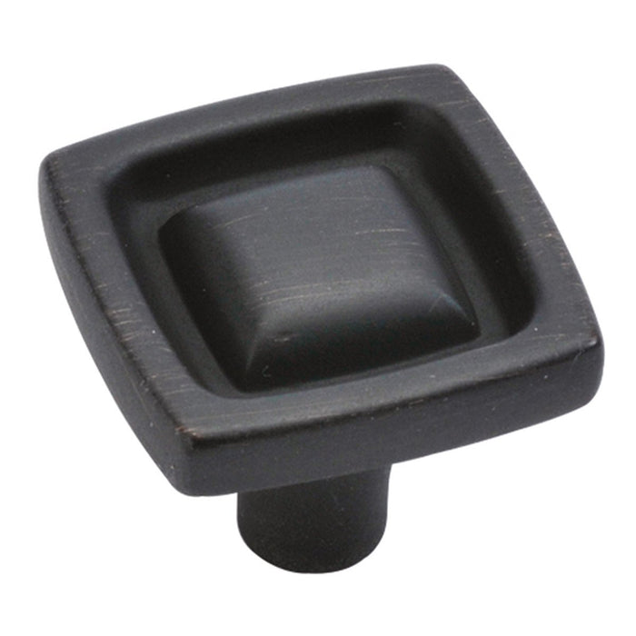 Hickory Hardware H-P3570-VB Designed for Value/Burke Vintage Bronze Square Knob - Knob Depot
