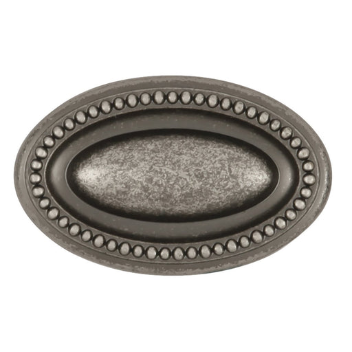 Hickory Hardware H-P3600-BNV Traditional/Altair Black Nickel Vibed Oval Knob - KnobDepot.com