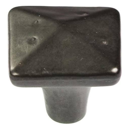 Hickory Hardware H-P3670-BI Casual/Carbonite Black Iron Pyramid Square Knob - KnobDepot.com