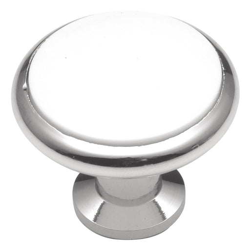 Hickory Hardware H-P427-26W Traditional/Tranquility White Porceain & Chrome Round Knob