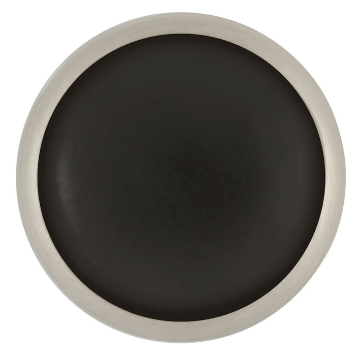 Hickory Hardware H-P427-SNB Traditional/Tranquility Satin Nickel & Black Round Knob - Knob Depot