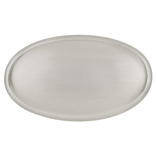Hickory Hardware H-P517-SC Traditional/Tranquility Satin Silver Cloud Oval Knob - KnobDepot.com