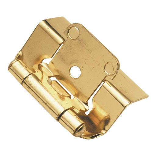 Hickory Hardware H-P5710F-3 Functional/Self-Closing Semi-Concealed Polished Brass Hinge - KnobDepot.com