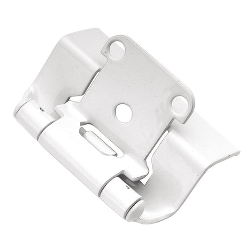 Hickory Hardware H-P5710F-W2 Functional/Self-Closing Semi-Concealed White Power Coat Hinge - KnobDepot.com