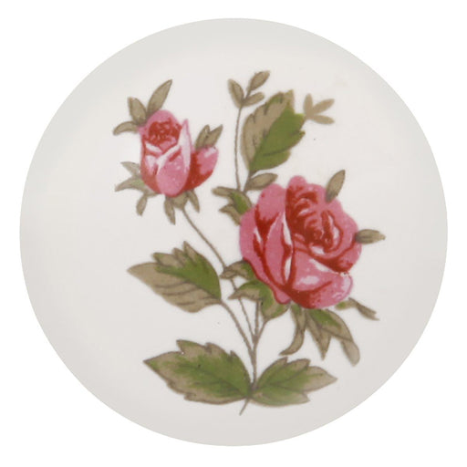 Hickory Hardware H-P603-PR Casual/English Cozy Pink Rose Round Knob - Knob Depot
