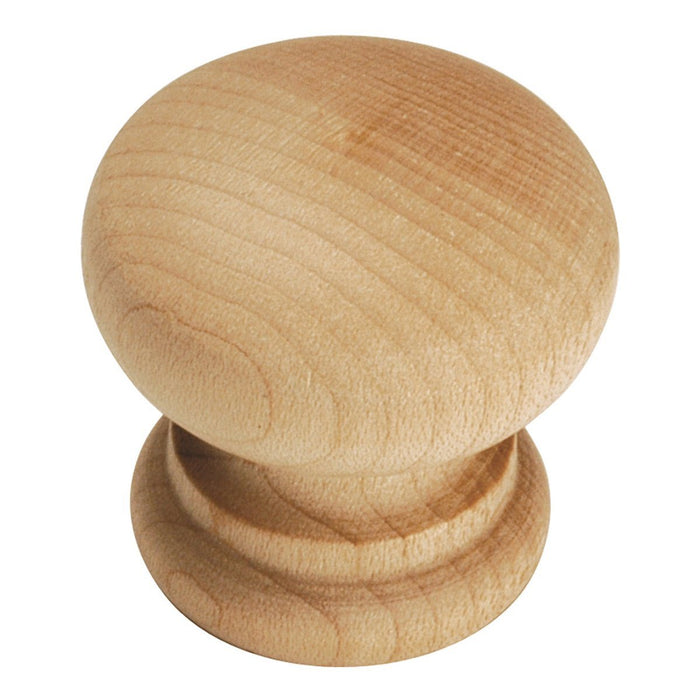 Hickory Hardware H-P684-UW Traditional/Natural Woodcraft Unfinished Wood Round Knob - Knob Depot