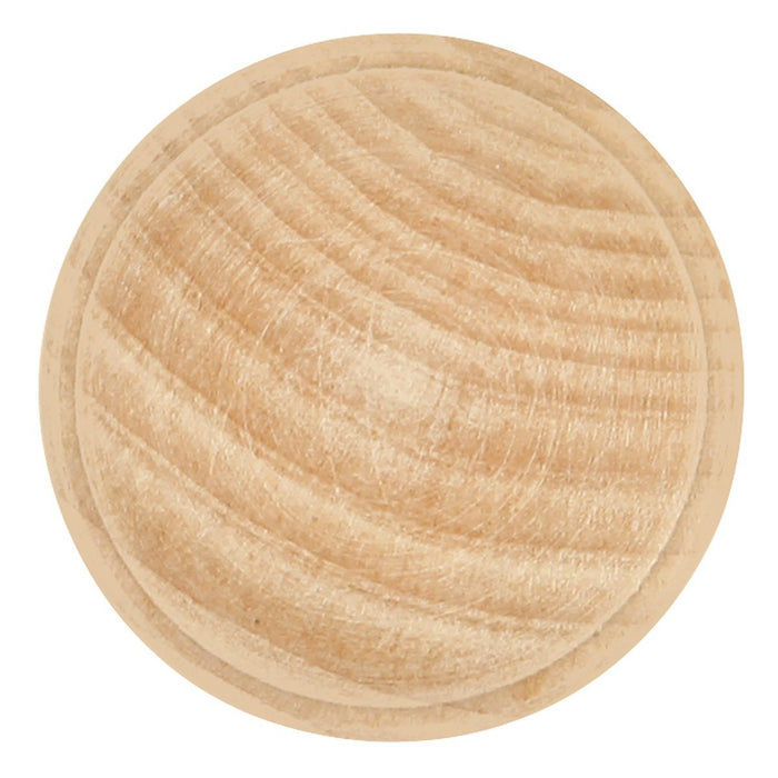 Hickory Hardware H-P685-UW Traditional/Natural Woodcraft Unfinished Wood Round Knob - Knob Depot