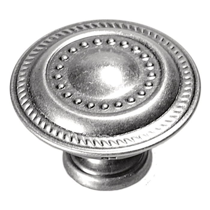 Hickory Hardware H-P8196-ST Traditional/Manor House Silver Stone Round Knob - Knob Depot