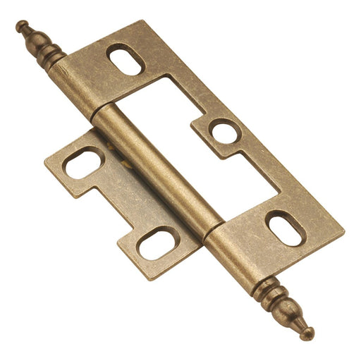 Hickory Hardware H-P8293-AB Functional/Self Mortise Antique Brass Hinge - KnobDepot.com