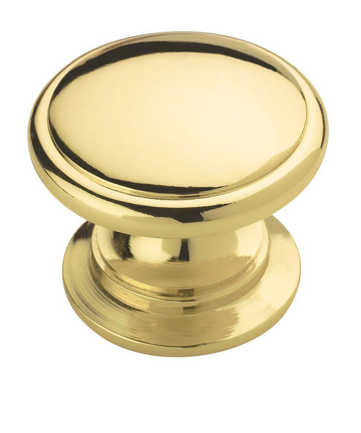 Amerock A-BP530123 Allison Polished Brass Round Knob - Knob Depot