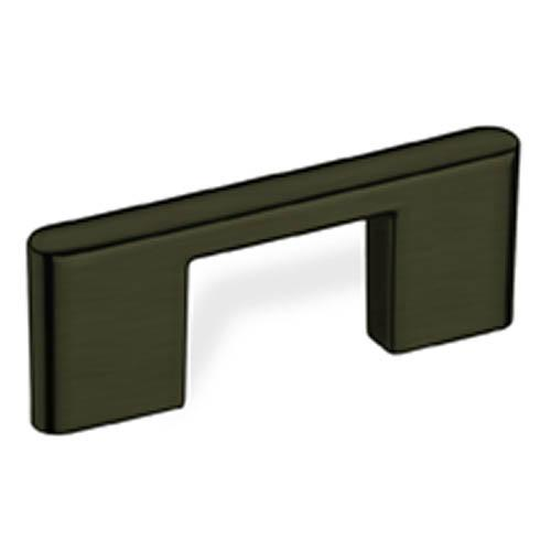 Schwinn S-59098 Square Bar Pulls Dark Nickel Finger Pull - KnobDepot.com