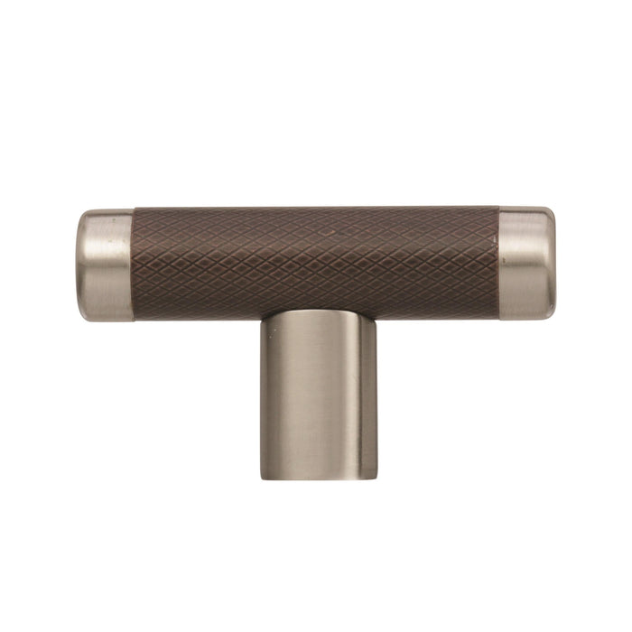 Amerock A-BP36556G10ORB Esquire  Oil-Rubbed Bronze/Satin Nickel T-Knob - Knob Depot