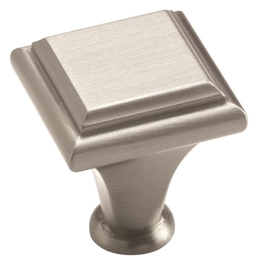 Amerock A-BP26131G10 Manor Satin Nickel  Square Knob - Knob Depot