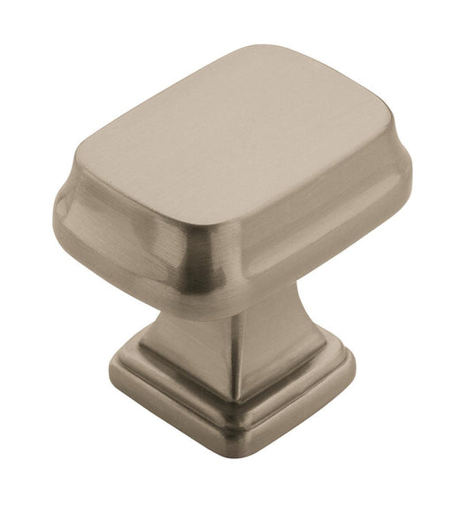 Amerock A-BP55340-G10 Revitalize Satin Nickel  Rectangular Knob - KnobDepot.com