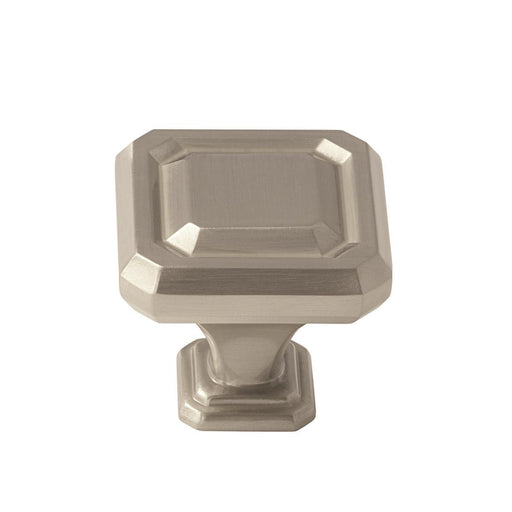 Amerock A-BP36546G10 Wells Satin Nickel Square Knob - Knob Depot
