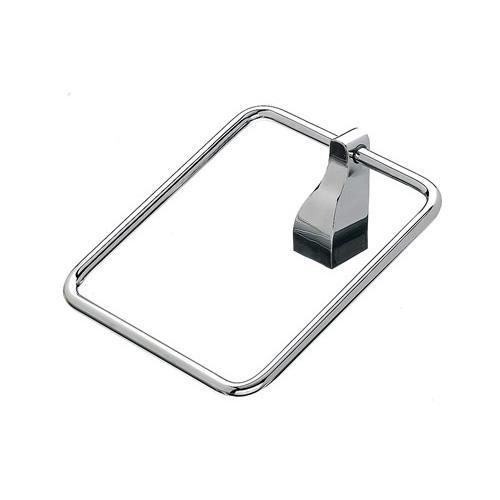 Top Knobs T-AQ5PC Aqua - Bathroom Polished Chrome Towel Ring - KnobDepot.com