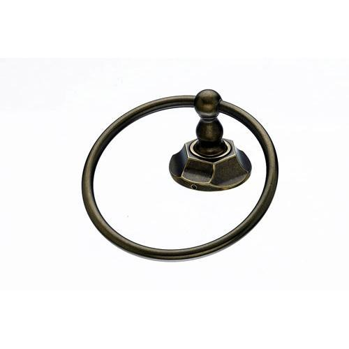 Top Knobs T-ED5GBZB Edwardian - Bathroom German Bronze Towel Ring - KnobDepot.com