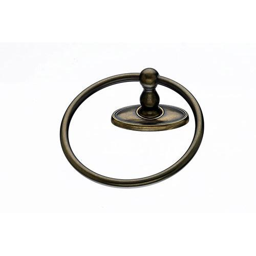 Top Knobs T-ED5GBZC Edwardian - Bathroom German Bronze Towel Ring - KnobDepot.com