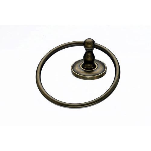 Top Knobs T-ED5GBZD Edwardian - Bathroom German Bronze Towel Ring - KnobDepot.com