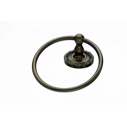 Top Knobs T-ED5GBZE Edwardian - Bathroom German Bronze Towel Ring - KnobDepot.com
