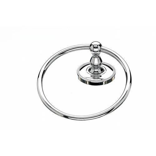 Top Knobs T-ED5PCA Edwardian - Bathroom Polished Chrome Towel Ring - KnobDepot.com